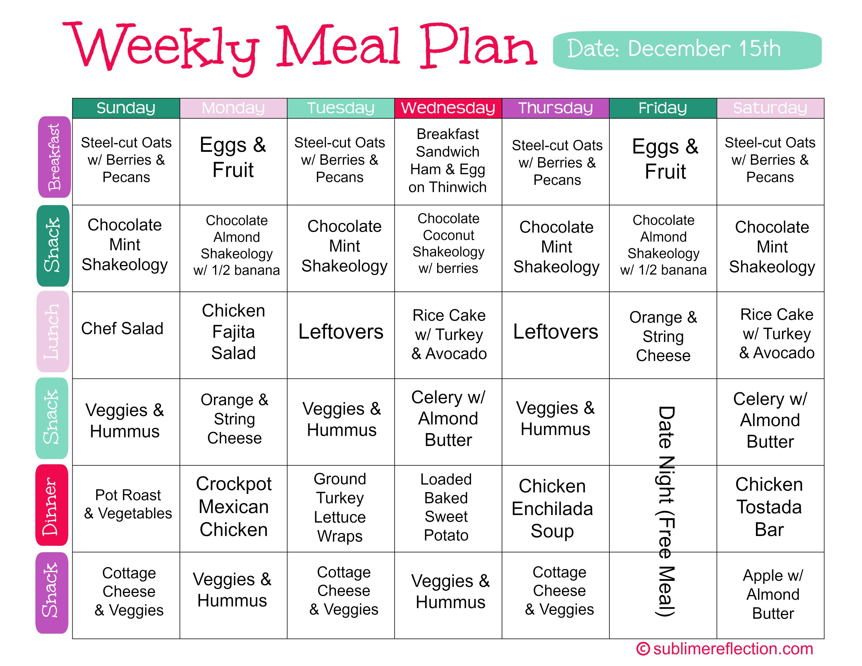 Meal Plan Dec 15
