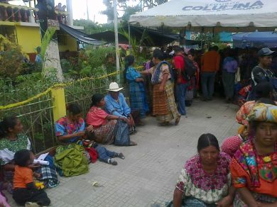 """Participants at a """"health fair"""" being educated on nutrition."""