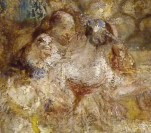 J M W Turner A Castle in an Alpine Valley, called 'Heidelberg', c.1842, detail of couples #4 Oil on canvas, 52 × 79 ½ ins (132 × 201 cms) Tate, London, N00518 Photograph by David Hill, courtesy of Tate