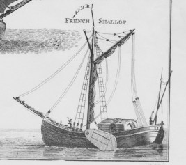 French Shallop From David Steel, The Elements and Practice of Rigging and Seamanship, 1794