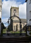Kirkby Lonsdale: Entrance to the churchyard Photograph by David Hill taken 25 March 2016, 11.01 GMT