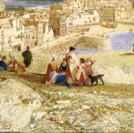 John Sell Cotman Dieppe, from the Heights Detail of figures: Lady Powell version