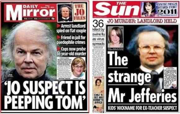 Trial by media - The Sun and the Daily Mirror stick the boot in to the (ultimately innocent) Christopher Jefferies.