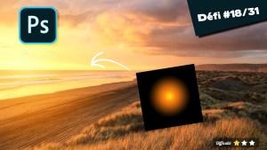 effet coucher de soleil photoshop