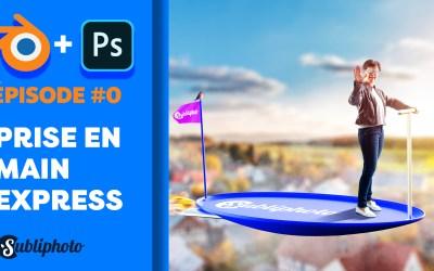 Prise en main express de Blender 2.93 et raccourcis clavier