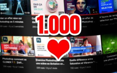 Merci ! Concours 1.000 abonnés Youtube