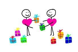 Oral sex - cartoon hearts giving presents