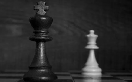 the king and queen on a chess board - actively submissive