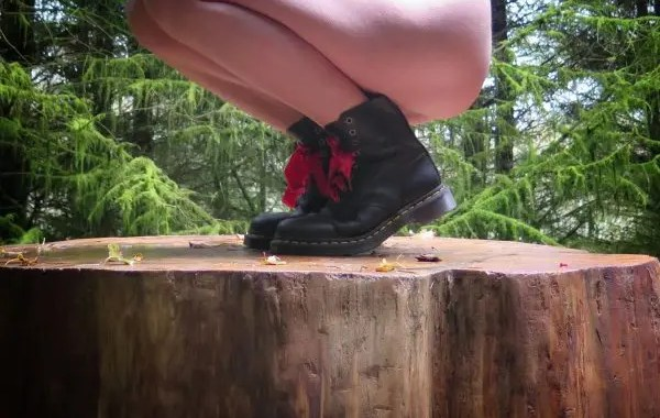 Worn Different - missy in docs in the woods
