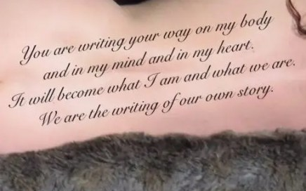 writing your way on my body - written on missy