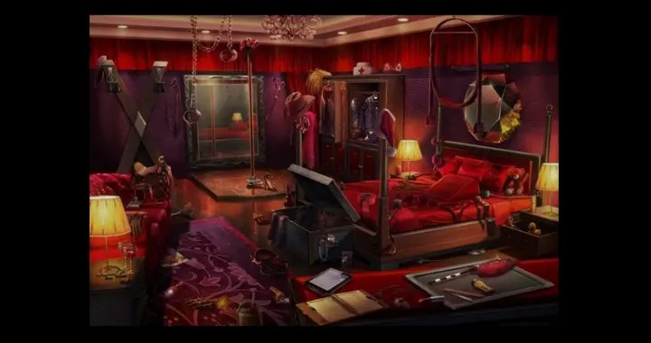 D is for Dungeon - picture of a BDSM dungeon room