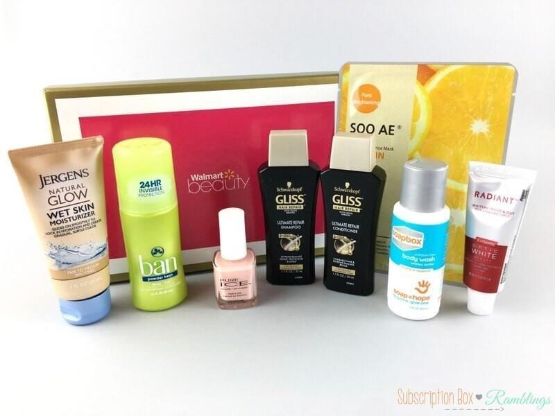 Walmart Beauty Box Review Spring 2017 Subscription Box