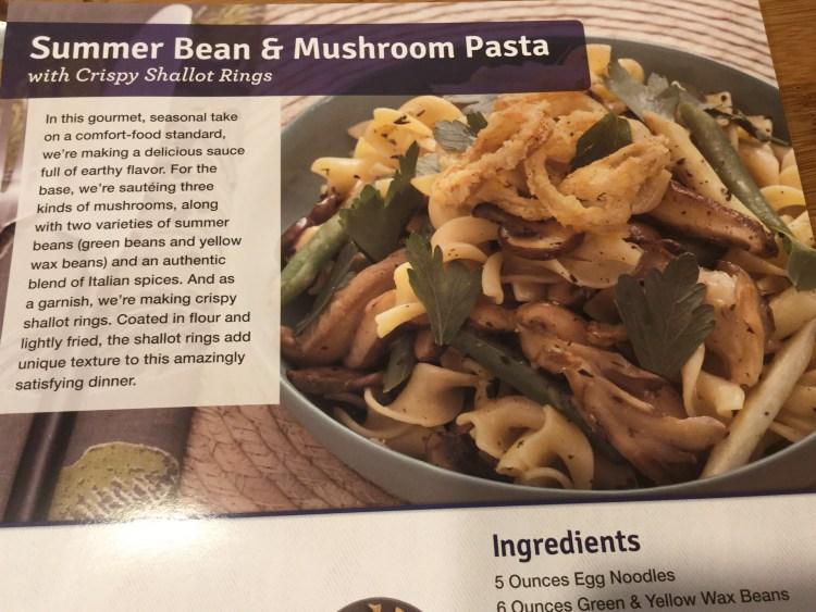 Summer Bean & Mushroom Pasta