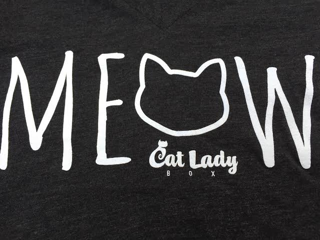 "Cat Lady Box - Exclusive Design ""MEOW"" Original Design T-Shirt"