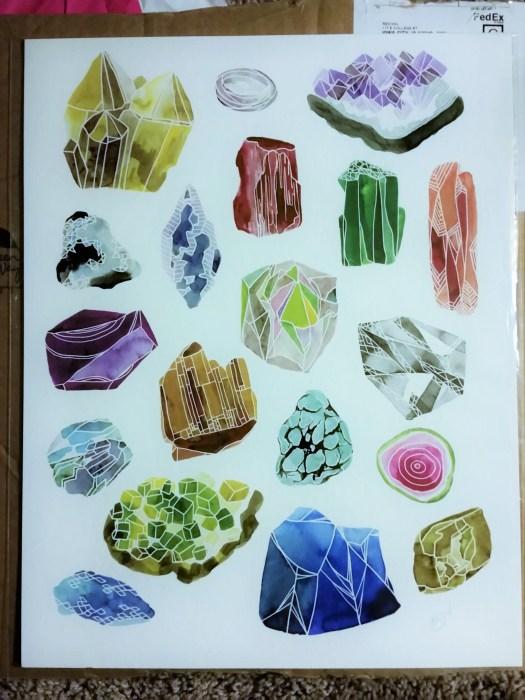 gemstones by katie vernon art print