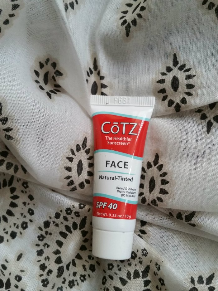 CoTZ Face Natural Tinted SPF 40 sunscreen
