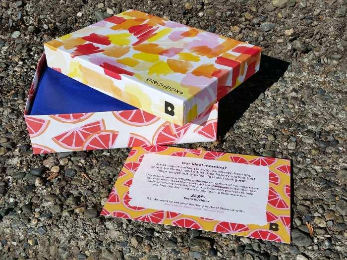 Birchbox rise and shine box