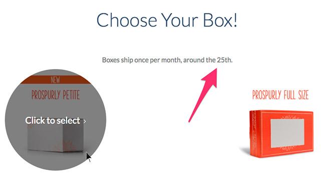 Choose Your Box Screen