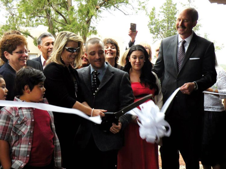Jennifer Weiss-Burke and husband David Burke at the ribbon-cutting. ceremony for Serenity Mesa. Photo: Jennifer Torrez