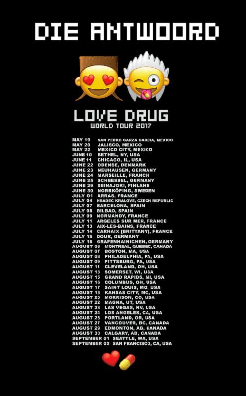 Die Antwoord Love Drug final tour
