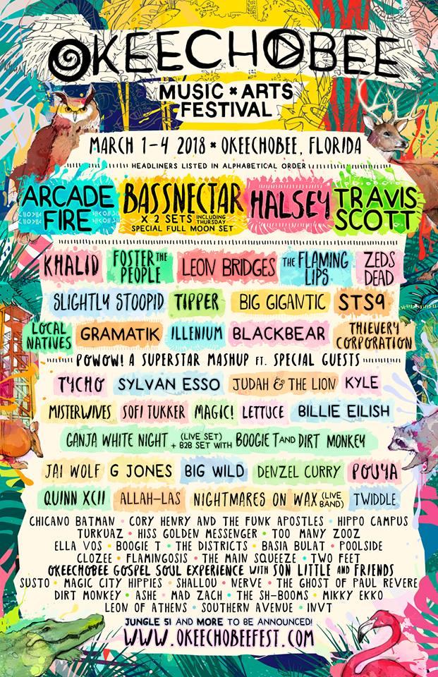 Okeechobee Music and Arts Festival Lineup Okeechobee Fest