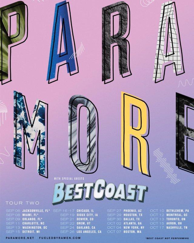 Paramore fall tour