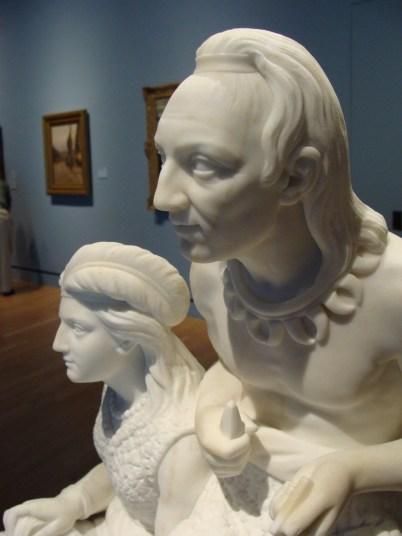 white marble sculpture