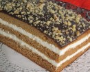 Honey Sheet Cake - Chocolate ganache topping with chopped walnuts,white icing with Irish Caramel Cream liqour