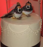 The Wedding Cake Topper - Two Love Birds