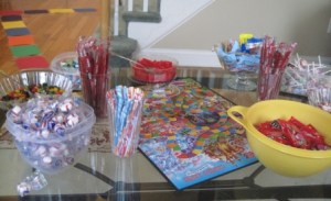 Assortment of candy to fill up Thank you bags with