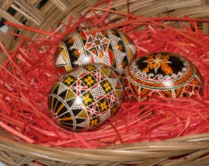 Hand decorated Ukrainian Easter Eggs