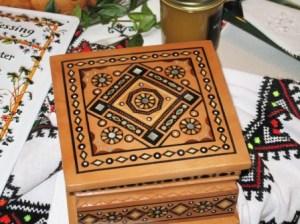 Ukrainian Treasure Box and gold coins