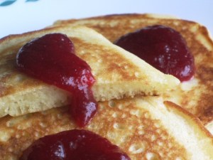 fluffy pancakes - close up view