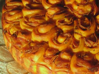 pull-apart pizza bread -close up view