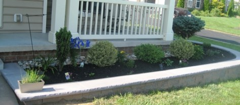 Entryway side flower patch