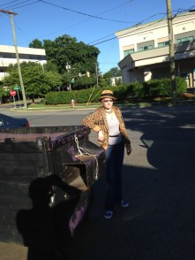 At the dumpster (L.E. Swenson)