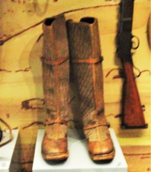 Quilted woollen boots of Cpl Green, Tibet expedition 1903. The cold of the Himalayas were a problem.