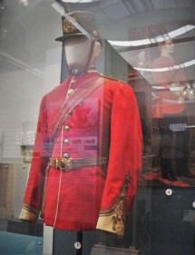 Uniform of Capt Dalgliesh, 29th Foot, circa 1865. French style shako helmet.