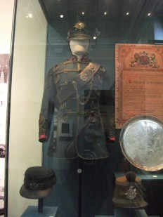 Lovely green uniform of the Worcestershire Rifle Volunteers