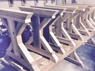 patio bench production line
