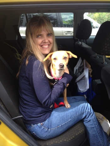 Me and my sweet rescue dog Sadie Nugget! A fourth grade teacher must have loving family waiting for her at home.