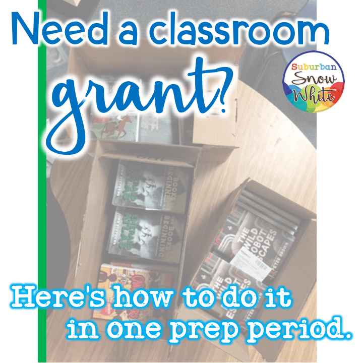 Classroom grants can be funded quickly through Donors Choose.