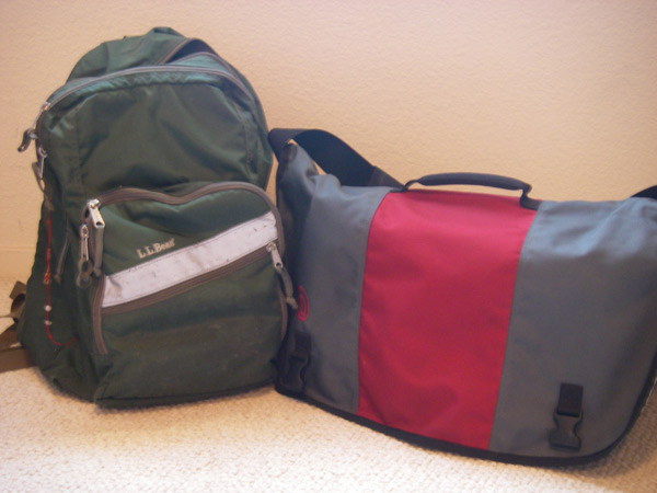 Our bags!  Look...they're snuggling! =D
