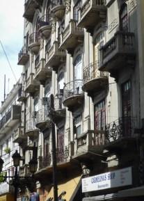 Balconies for apartments above shops in Calle el Conde