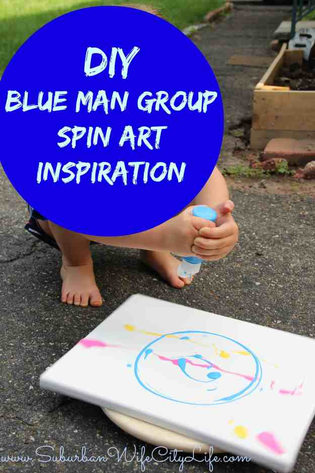 DIY Blue Man Group Spin Art Inspiration