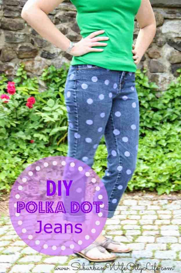 Polka Dot Pants DIY