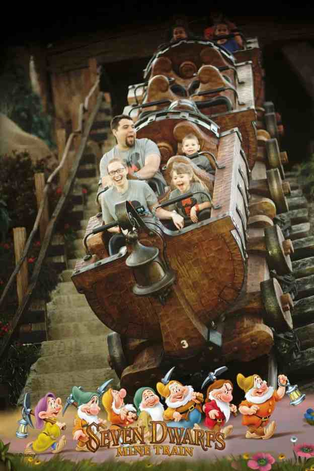 Disney photo pass Seven Dwarfs Mine Train