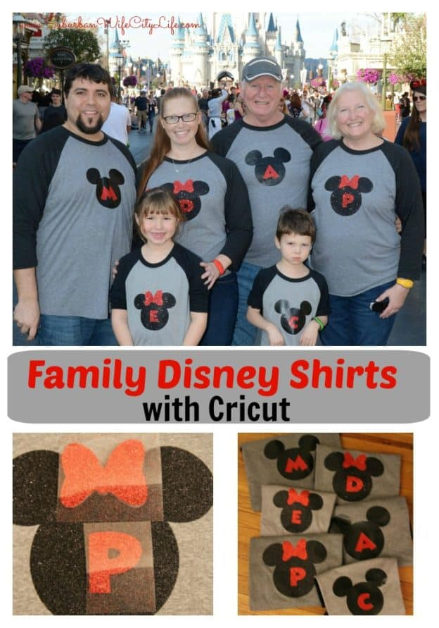 6ef63262 DIY - Family Disney Shirts with Cricut - Suburban Wife, City Life