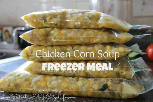 Chicken Corn Soup Freezer meal