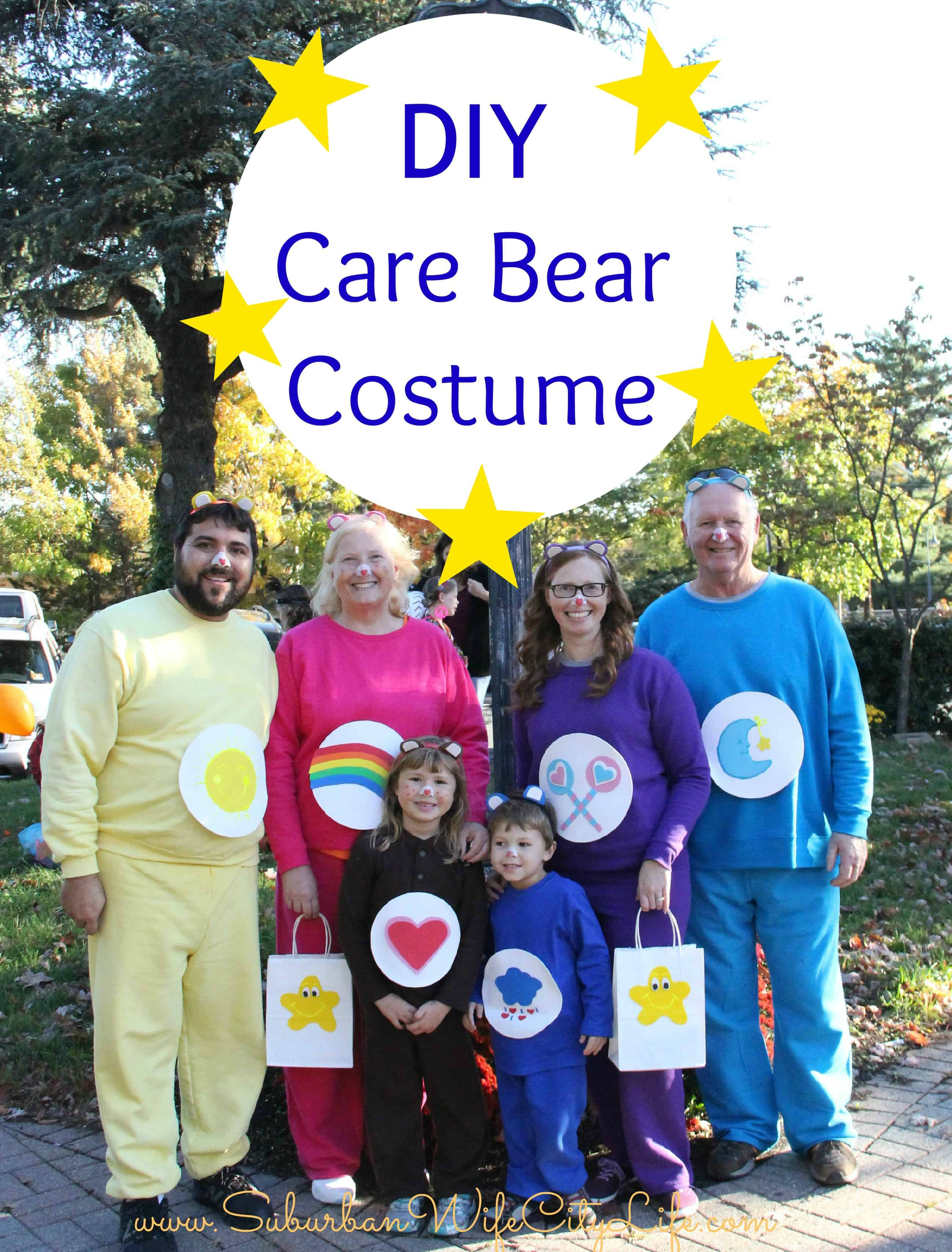 Care Bear Family Costumes  sc 1 st  Suburban Wife City Life & DIY Care Bear Costume - Suburban Wife City Life